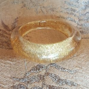 Rachel Leigh Translucent Gold Sparkle Bangle
